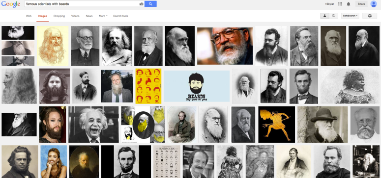 Figure 1. Google search of scientists with beards.