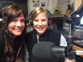 Lyn and I on the radio show!
